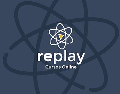 Site Desenvolvido para Plataforma Replay Cursos Online.