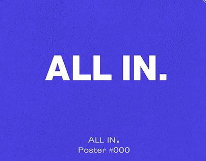 ALL IN - Kinetic type