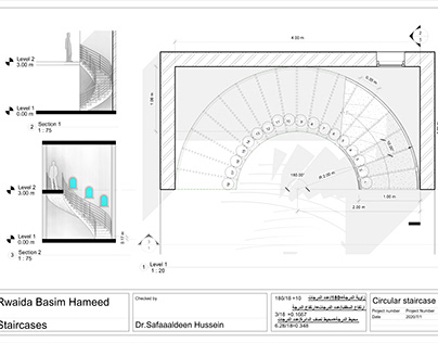 WORKING DRAWING -STAIR CASES