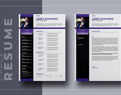2 Page Resume Template