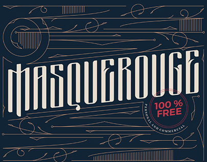 Free Masquerouge Victorian Display Font