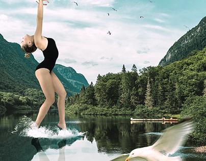 Dancer On A Lake