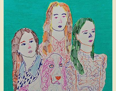 Desenho com lápis de cor e caneta colorida