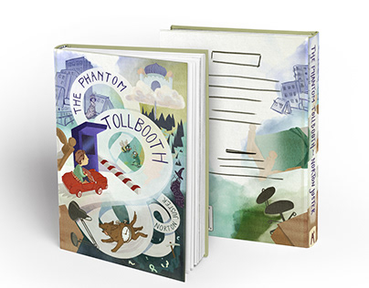 The Phantom Tollbooth bookcover illustration