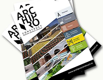 Archipro Construct - Branding & brochure design