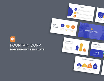 Fountain Corp. Real Estate PowerPoint Template