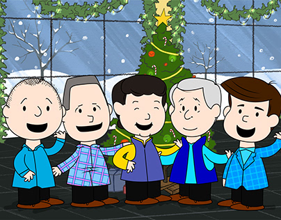 Christmas Animated Video in the style of The Peanuts