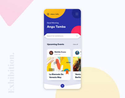Exhibition UI Design Concept