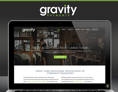Gravity Payments Website