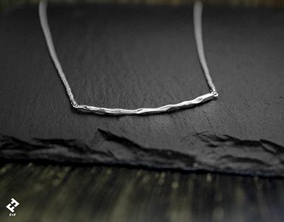 +bamboo・  Chain Bar Necklace