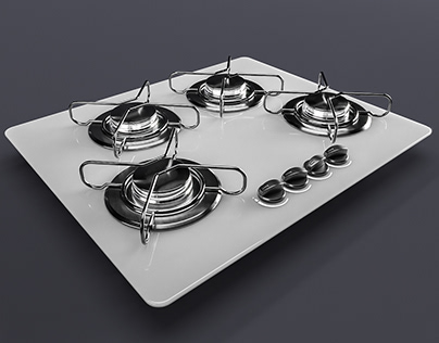 COOKTOP BLACK IN WHITE