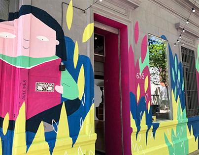 Book Shop Mural