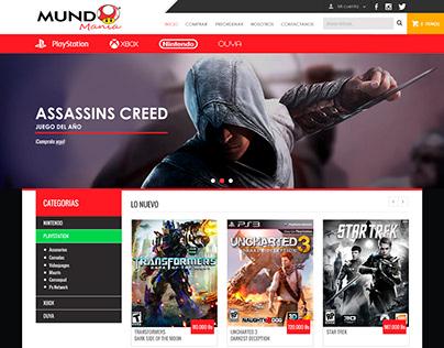 MundoMania   Website design (concept)
