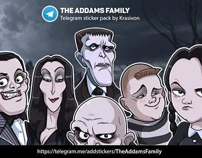 Stickers : The Addams Family