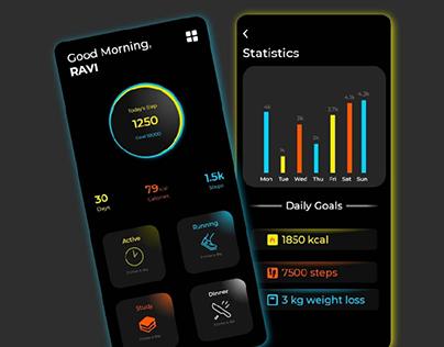 Fitness Mobile App Design