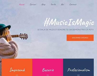 Strategy, visual identity, website for a music school