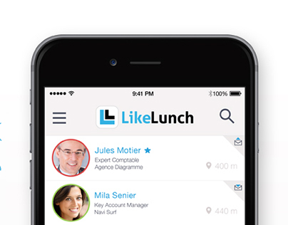 LikeLunch - Social Networking app for iOS & Androïd
