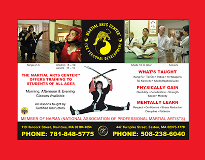MARTIAL ARTS CENTER -Website Design