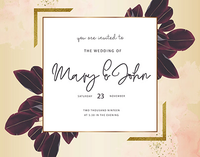 Elegant purple Wedding Cards collection
