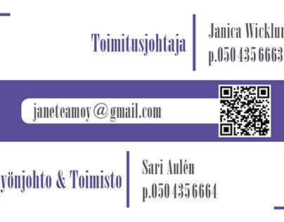 Business card for Jane-Team