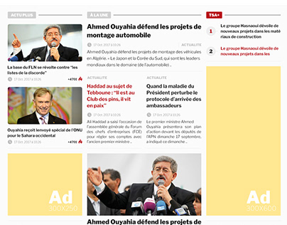 Website - TSA - Tout sur l'Algérie