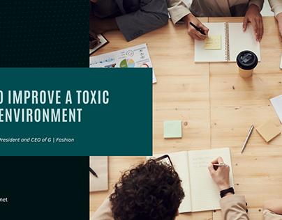 Doaa Dashoush   Improving a Toxic Work Environment