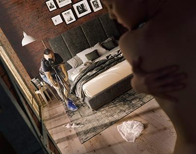 Bedroom Photoshoot 3D Visualization