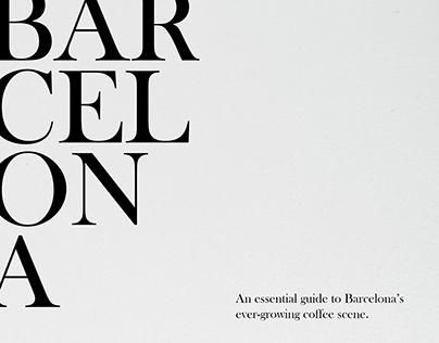 Barcelona Coffee Editorial Design
