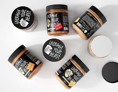 BRTL by Brutal ™ Peanut Butter packaging
