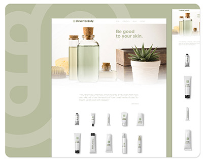 Web and Logo Design For Clever Beauty