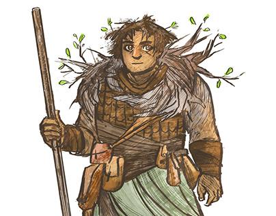 Character design: Orel the druid