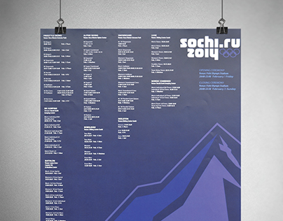 Sochi 2014 Winter Olympics Poster