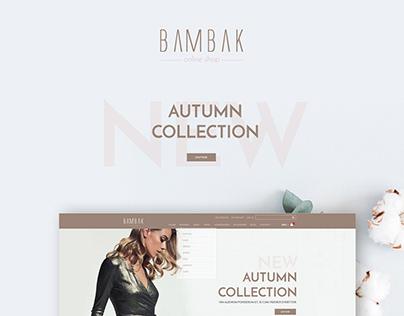 Bambak, Online shop UI/UX