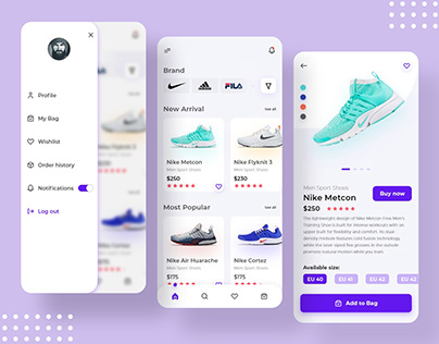 Shoes eCommerce App | Product Screen Design Concept