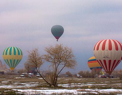 Balloons in Goreme, Cappadocia