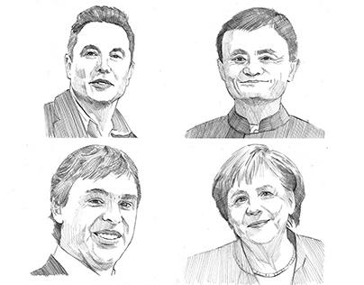 Hand-drawn Profile Picture Sketches
