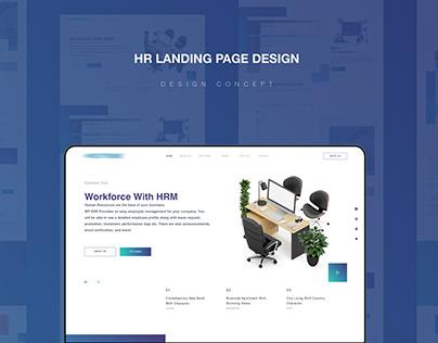 HR Management landing page