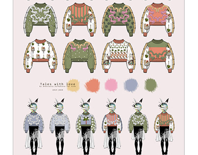 Sketches of sweatshirts for girls