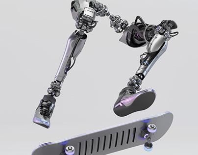 Robot skater legs