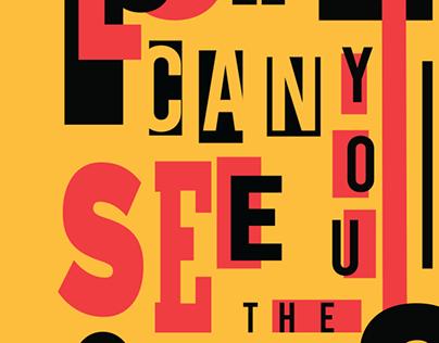 Latin Typographic Poster