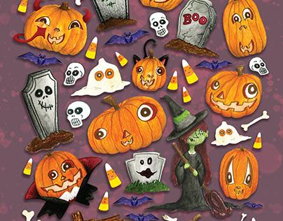 Happy Halloween! Poster/Sticker Sheet