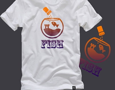 Fish T-shirt Mockup Design