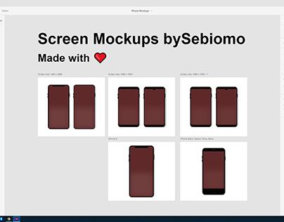 Screen Mockups in AdobeXD bySebiomo