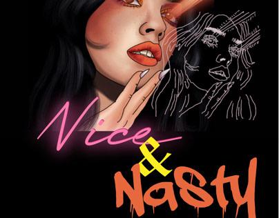 Nice and Nasty T-shirt designs
