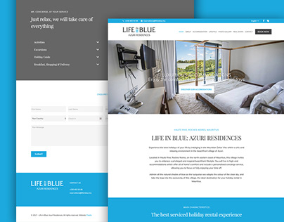 Life in Blue Azuri - Website design
