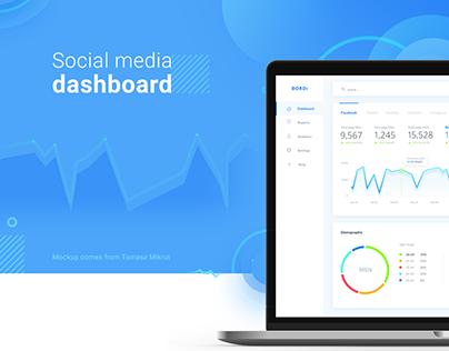 Social Media Dashboard concept