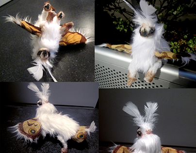 Moth Puppy Art Doll