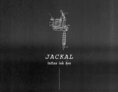 Jackal Tattoo Shop - Rock and Roll, Goth Branding