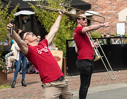 A Brass band day out in Durham City.