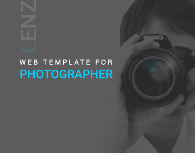LENZ- Web resume template For Photographer